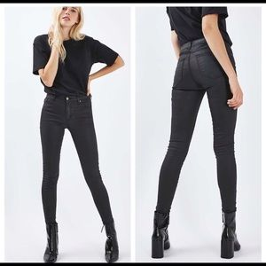 Topshop Leigh Moto coated